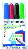 Fila giotto набор маркеров для белой доски robecolor whiteboard giant 4 шт 2204143